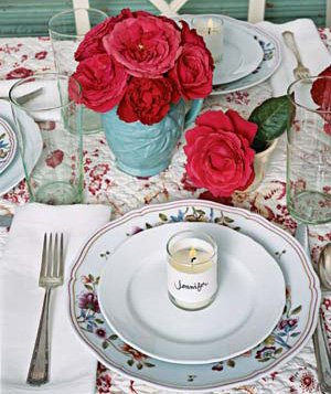 Mix and match table setting : red table setting - pezcame.com