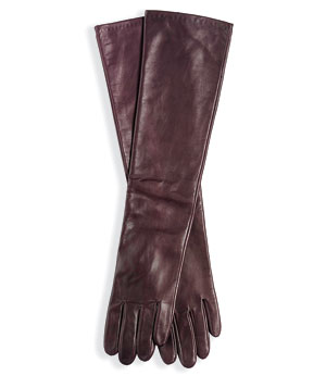 Ann Taylor long leather gloves