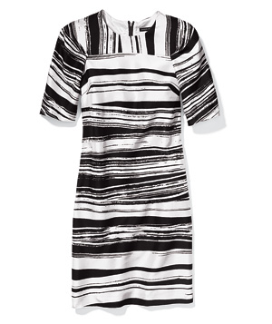 Banana Republic abstract-print black and white dress