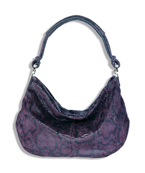 Banana Republic purple Zermatt hobo
