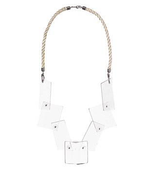 H&M crystal-clear chunky necklace