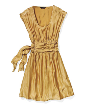 H&M gold dress