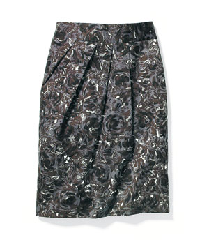 Loft Autumn Roses skirt