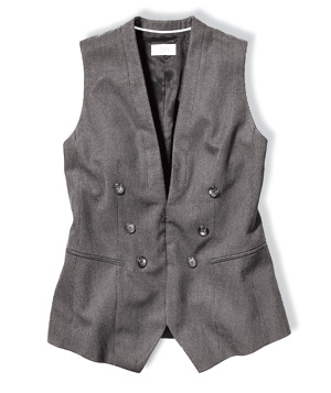 Loft pin-striped vest