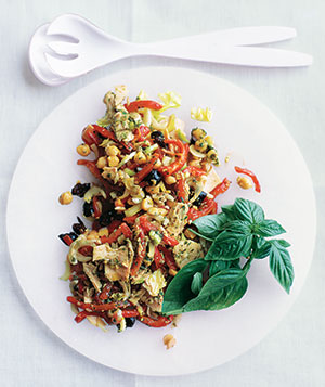 Tuna and Chickpea Salad With Pesto