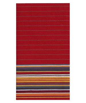 Crate & Barrel Salsa Stripe Towel
