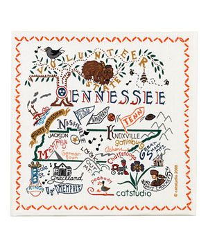Cat Studio Tennessee State Towel