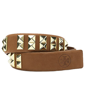 Tory Burch Feather Edge Studded Belt