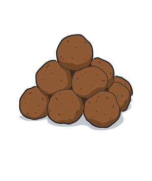 Illustration of meatballs