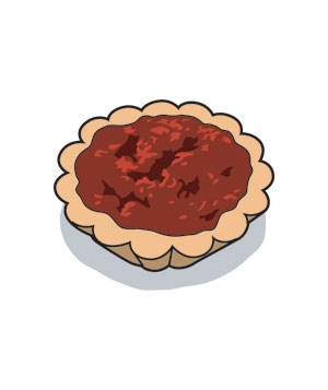 Illustration of a mini quiche