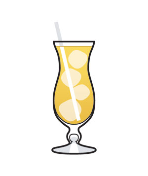Illustration of a rum drink