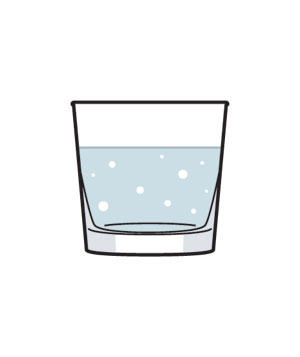 Illustration of a glass of club soda