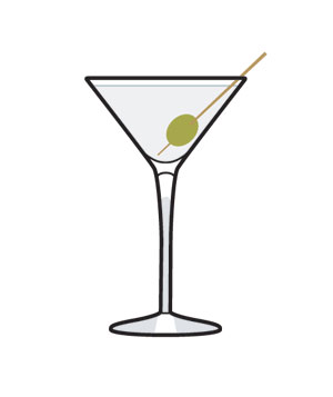 Illustration of a martini