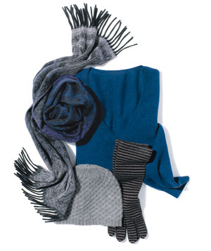 Cashmere accessories and sweater