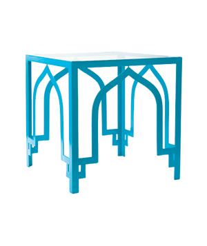 Almidi wrought-iron end table