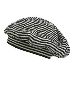 Stripe Beret by Wet Seal