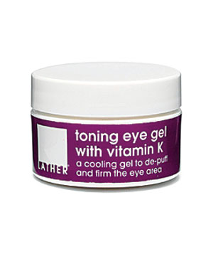 Lather Toning Eye Gel WIth Vitamin K