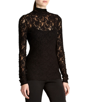 BCBG Lace Turtleneck
