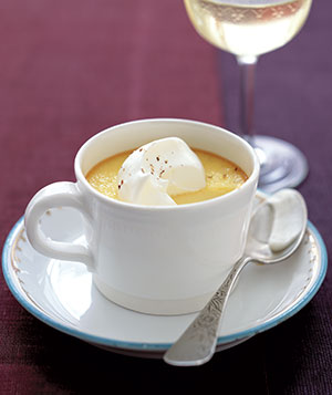 Easy but impressive, an eggnog-flavored custard is a great kickoff to the festive season.