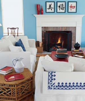 Seating Around A Fireplace