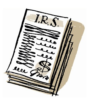 Illustration of a tax return