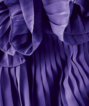 Pleats on a purple shirt