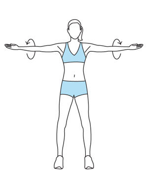 Illustration of arm circles