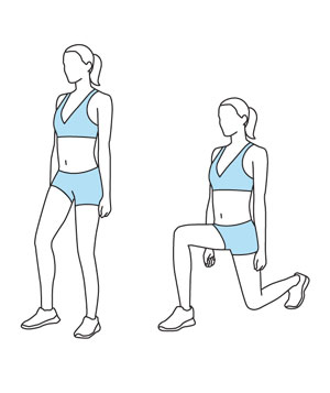 Illustration of walking lunges