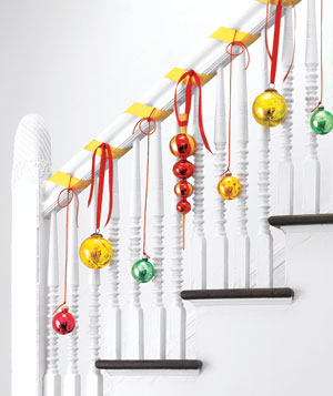 Ornaments decoraring a banister