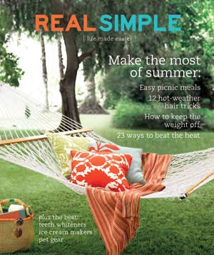 Real Simple Cover:  July 2007