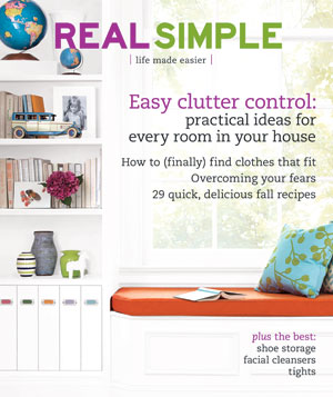 Real Simple Cover:  October 2007