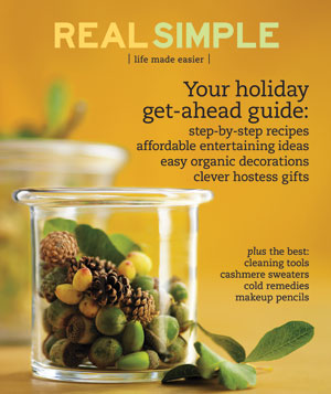 Real Simple Cover:  November 2007