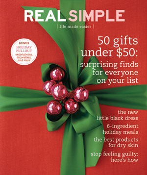 Real Simple Cover:  December 2007