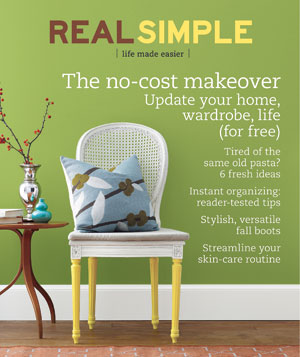 Real Simple Cover:  October 2008
