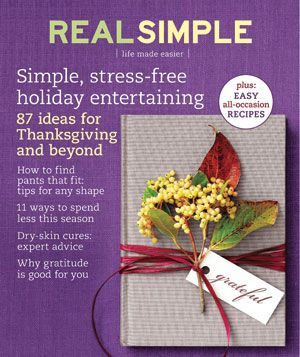 Real Simple Cover:  November 2008