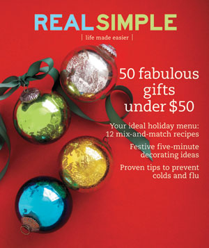 Real Simple Cover:  December 2008