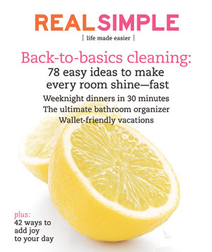 Real Simple Cover:  April 2009