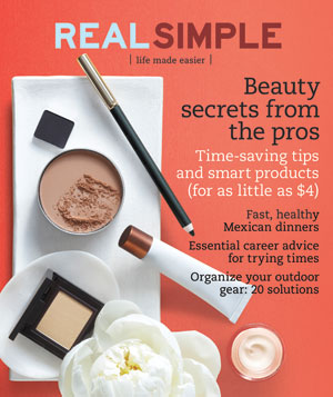 Real Simple Cover:  May 2009