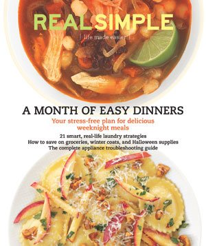 Real Simple Cover:  October 2009