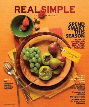 Real Simple Cover:  November 2009