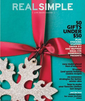 Real Simple Cover: December 2009
