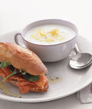 Cauliflower Soup With Prosciutto Sandwiches