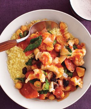 Cauliflower and Chickpea Stew With Couscous