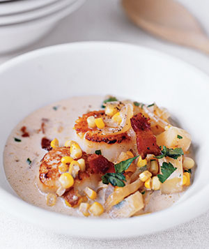 Scallop and Corn Chowder