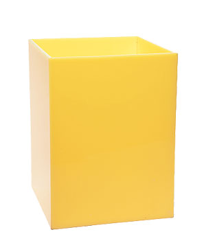 Albrizzi yellow wastebasket