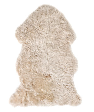 Shades of Light natural-sheepskin rug