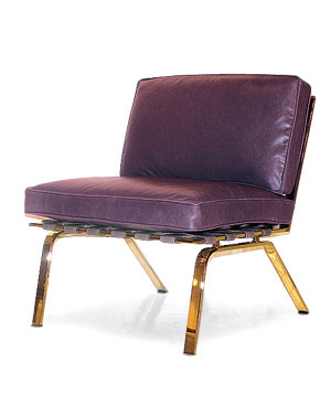 Remington purple leather chair