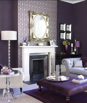 Decorating With Purple - Real Simple