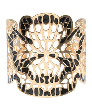 Laser Cut Floral Cuff by Forever 21