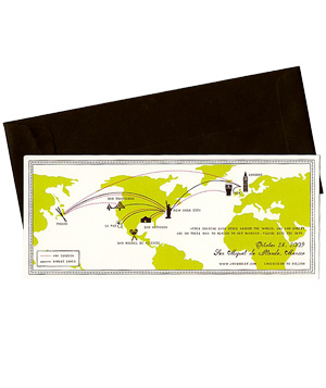 Mr. Boddington destination wedding invitation